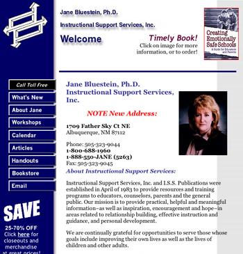 Dr. Jane Bluestein's Web site 1997