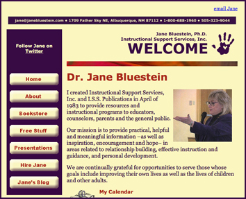 Third version of Dr. Bluestein's website, 2008
