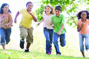 Movement and literacy: Children running