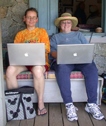 Laura Gutman and Jane Bluestein on a Geek Vacation