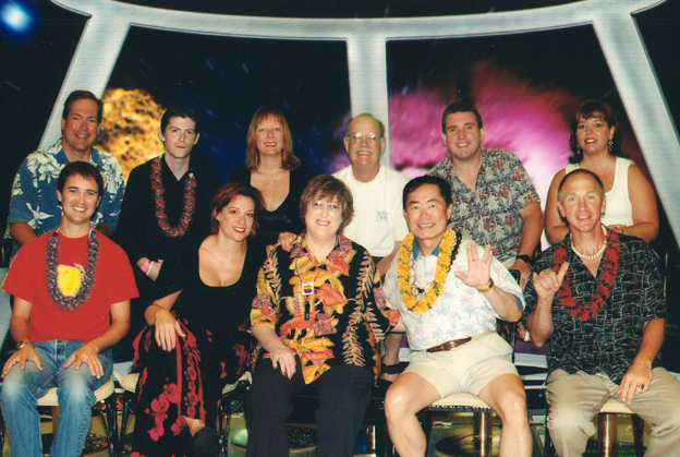 Dr. Jane Bluestein with various Star Trek cast members