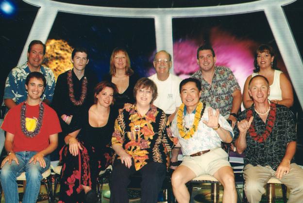 Dr. Jane Bluestein with various Star Trek cast members