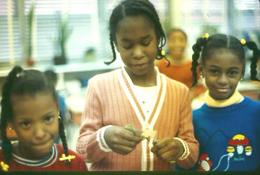 Three elementary students
