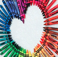 Crayons as symbol for diversity