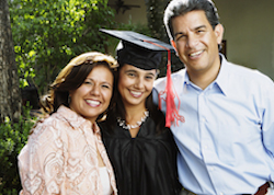 Parents and child, graduation, home-school relationships