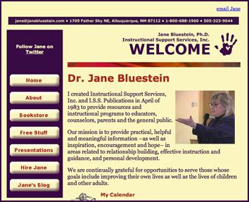 Third version of Dr. Bluestein's website, 2008