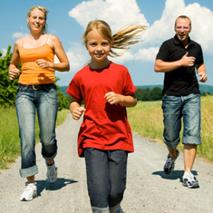 Movement and literacy: Family jogging