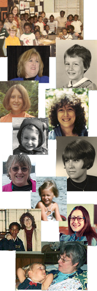 Dr. Jane Bluestein's timeline collage
