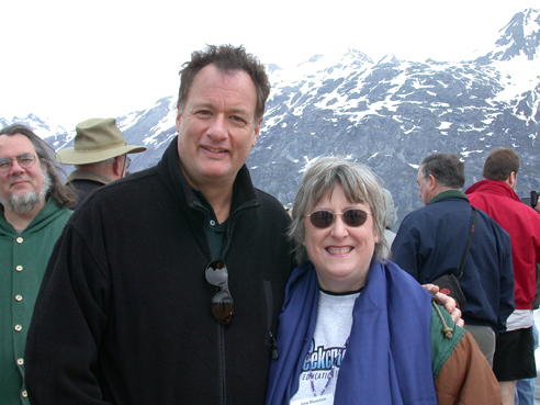John de Lancie and Jane Bluestein, MacMania Geek Cruise, Alaska, 2002