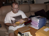 Jerry Tereszkiewicz packing pre-orders for High School's Not Forever