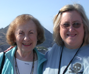 Mom (Evelyn Mercur) and me (Jane Bluestein) in Mazatlan, 2006