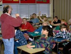 Teacher asking questions