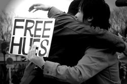 Free hugs: Seeking kindness in pain and outrage
