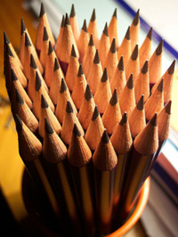 Pencils, writer's block