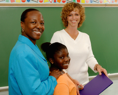 Parents and teachers working together, home-school relationships